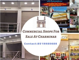 COMMERCIAL SHOPS FOR SALE/RENT/LEASE AT GULZAR HOUZ, CHARMINAR