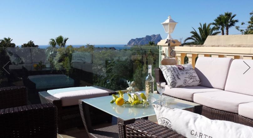 Villa de lujo en venta con vistas al mar en San Jaime Moraira