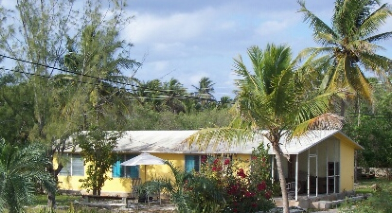 Bungalow for sale in stunning Exuma Bahamas close to 3 Sisters Beach.