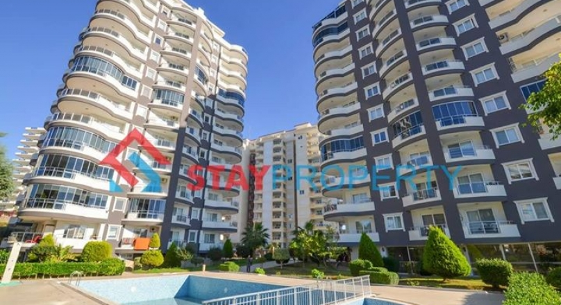 Fully Furnished Sea View Apartment for Sale in Mahmutlar, Alanya