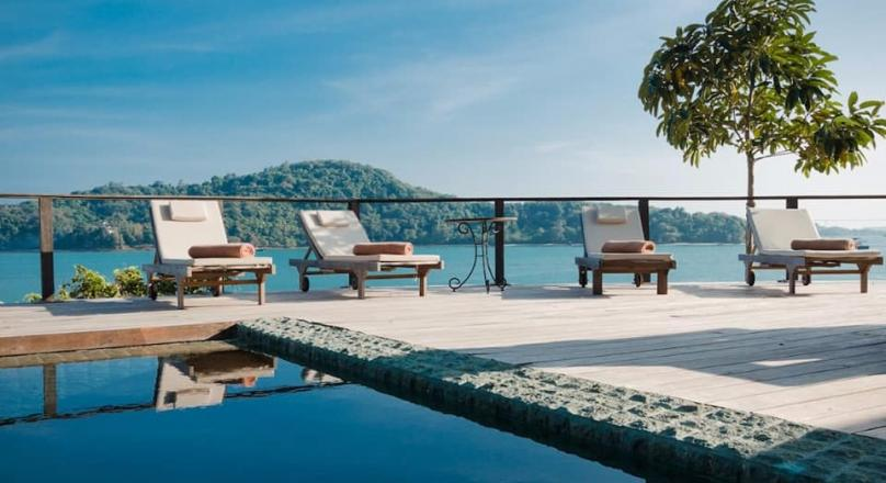 Phuket quality real estate presents this beautiful waterfront villa