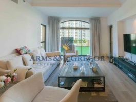 Upgraded, semi furnished, huge terrace 2 Bedroom Apartment for rent in Golden mile