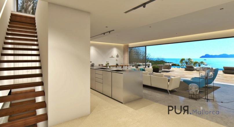 Bay of Alcudia. New building. Villa. Sea view and more. Purism. Luxury.