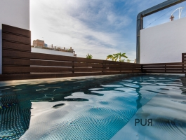 New apartments in El Terreno. With roof pool, sea view and future perspective