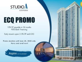 RENT TO OWN - STUDIO A in Katipunan is Ready for Occupancy