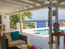 A large, modern, 5 bedroom, oceanfront villa
