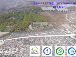 3.8 HAS / 9.38 ACRES BATEQUITOS TODOS SANTOS BCS, MX