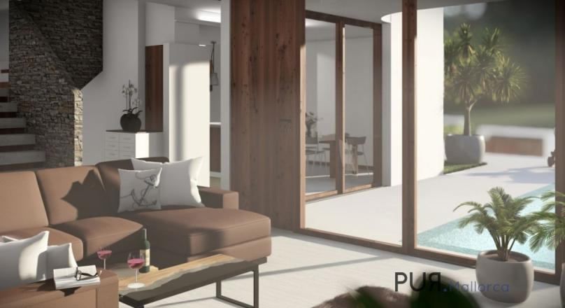 Font de Sa Cala. New buildings. Terrace house. Private pool. Sea views.