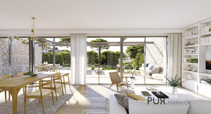 Very attractive new construction project in Cala Vinyes. Houses in highest quality small plant.